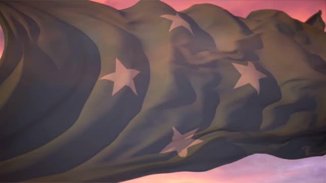 vídeos y material grabado en eventos de stock de bandera de micronesia - isleño del océano pacífico