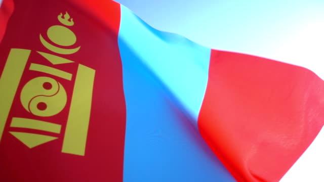 vídeos de stock e filmes b-roll de bandeira da mongólia - ulan bator