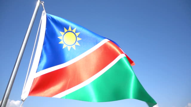 flag of nambia - namibia stock videos & royalty-free footage