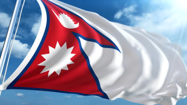 flag of nepal | loopable - nepali flag stock videos & royalty-free footage
