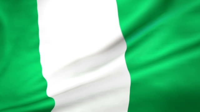flag of nigeria loopable - nigerian flag stock videos & royalty-free footage