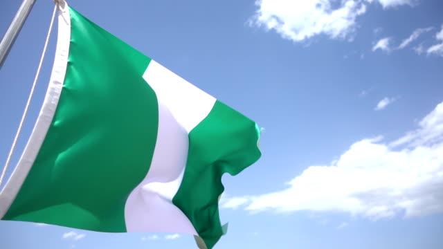 flag of nigeria - nigeria stock videos & royalty-free footage
