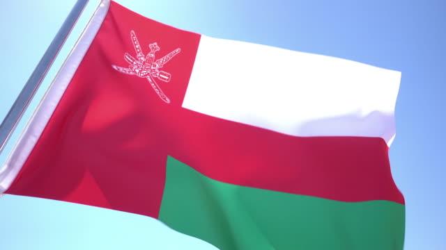 flag of oman - oman flag stock videos and b-roll footage
