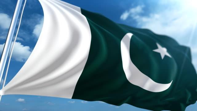 flag of pakistan | loopable - pakistani flag stock videos & royalty-free footage