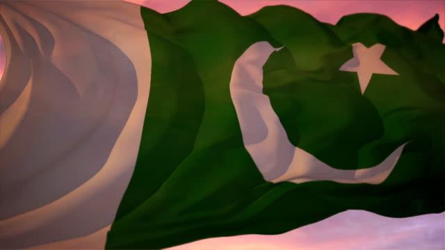 flag of pakistan - pakistani flag stock videos & royalty-free footage
