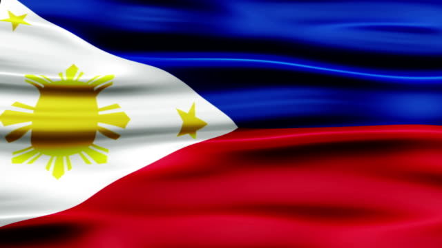 flag of philippines - philippines flag stock videos & royalty-free footage