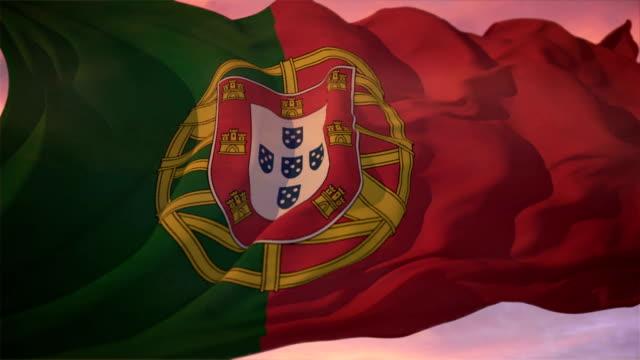 vídeos y material grabado en eventos de stock de bandera de portugal - portugal