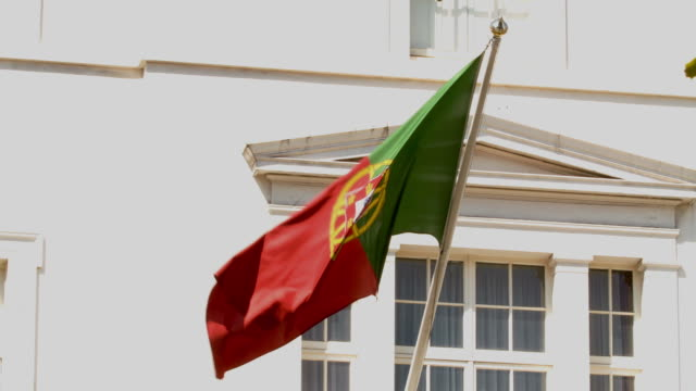 flag of portugal - portuguese culture stock videos & royalty-free footage