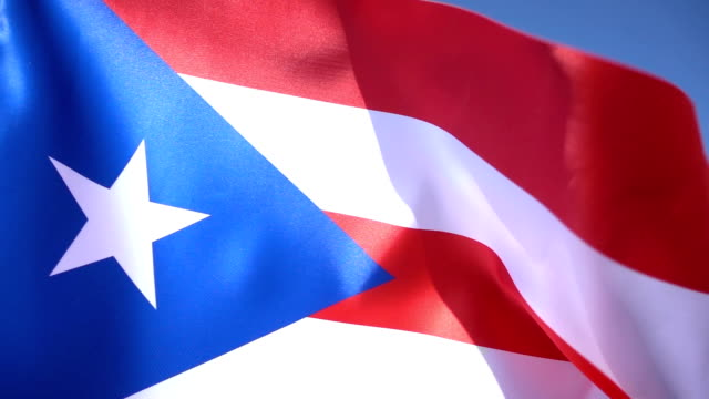flag of puerto rico - puerto rico stock videos & royalty-free footage