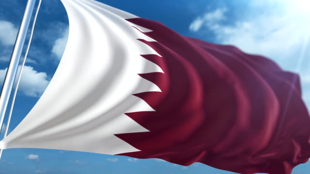flag of qatar | loopable - freedom stock videos & royalty-free footage