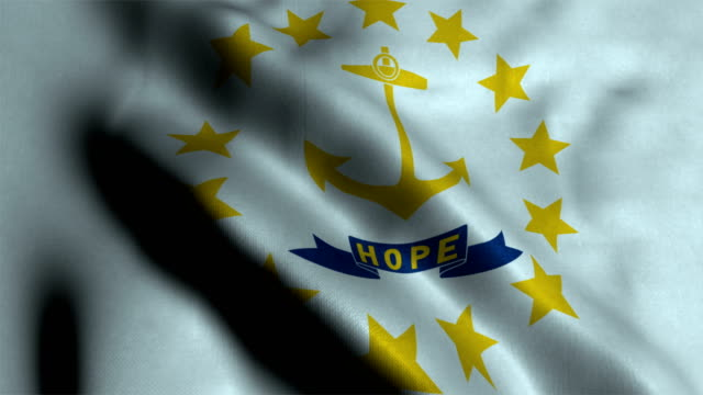 vidéos et rushes de drapeau de l'état de rhode island - rhode island