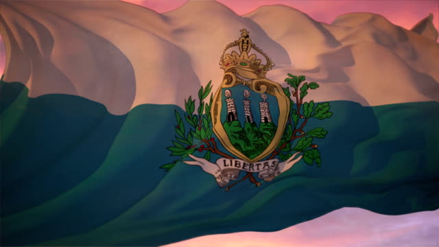 flag of san marino - symbol stock videos & royalty-free footage
