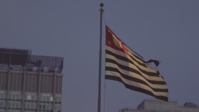 flag of sao paulo flaming in slow motion - 1932 stock videos & royalty-free footage