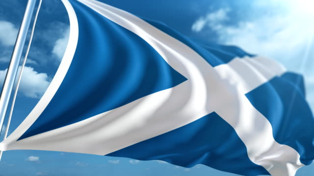 flag of scotland | loopable - scottish flag stock videos & royalty-free footage