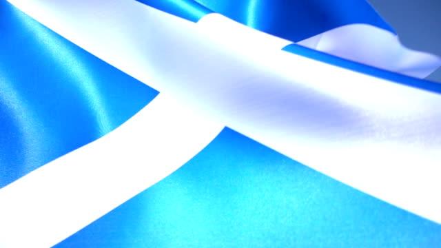 flag of scotland - scottish flag stock videos & royalty-free footage