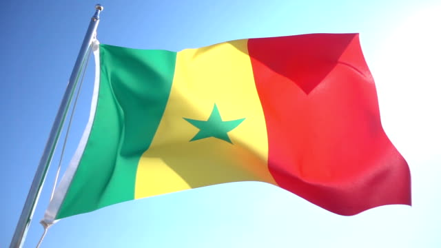 vídeos de stock e filmes b-roll de bandeira do senegal - senegal