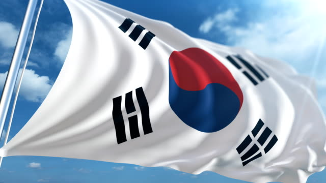 flag of south korea | loopable - south korean flag stock videos & royalty-free footage