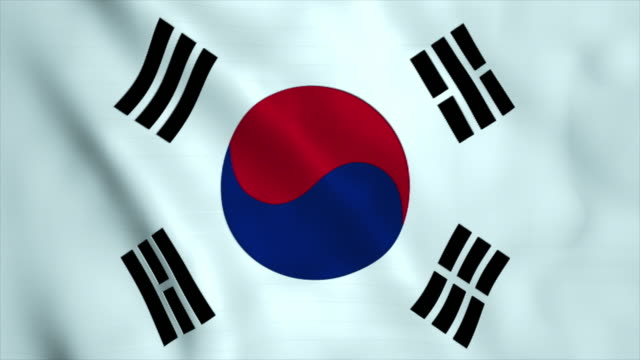 flag of south korea - south korea stock videos and b-roll footage