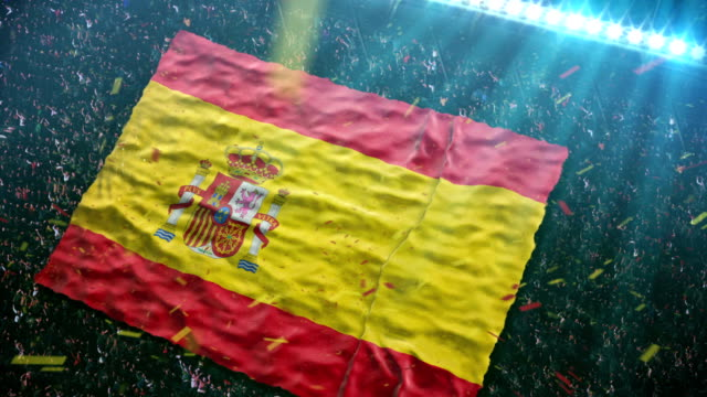 Flag of Spain at the stadium