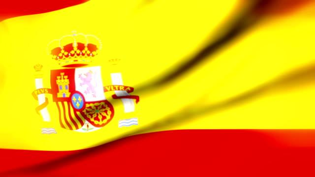 Drapeau de l'Espagne en boucle Drapeau bandera de España