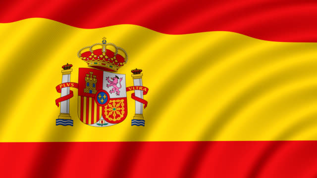 スペインの国旗 - スペイン国旗点の映像素材/bロール