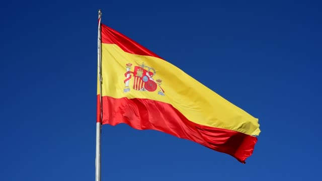 flag of spain - spanish flag stock videos and b-roll footage