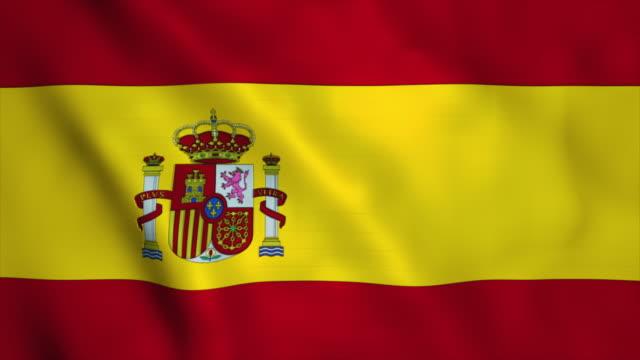 flagge von spanien  - flag stock-videos und b-roll-filmmaterial