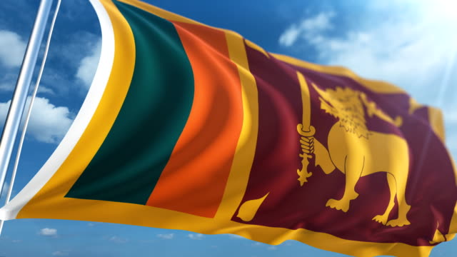 flag of sri lanka | loopable - sri lankan flag stock videos & royalty-free footage
