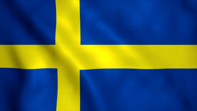 flag of sweden - national flag stock videos & royalty-free footage