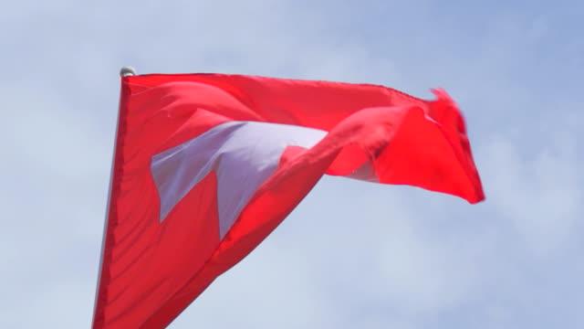 Flagge der Schweiz: HD-Zeitlupe
