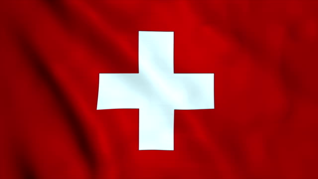flag of switzerland - flag stock videos & royalty-free footage