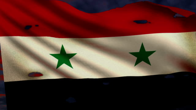 Flag of Syria, conflict