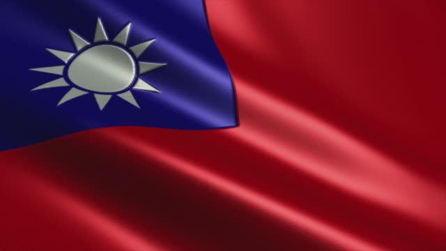 vídeos y material grabado en eventos de stock de flag of taiwan high detail - looping stock video - bandera de taiwán