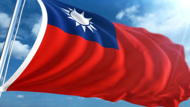 flag of taiwan | loopable - taiwanese flag stock videos & royalty-free footage