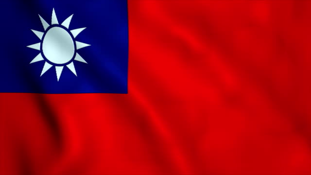 flag of taiwan - taiwanese flag stock videos & royalty-free footage