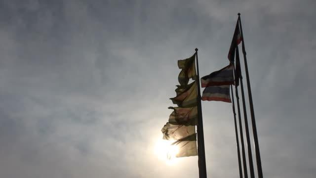 Flag of Thailand against religion.