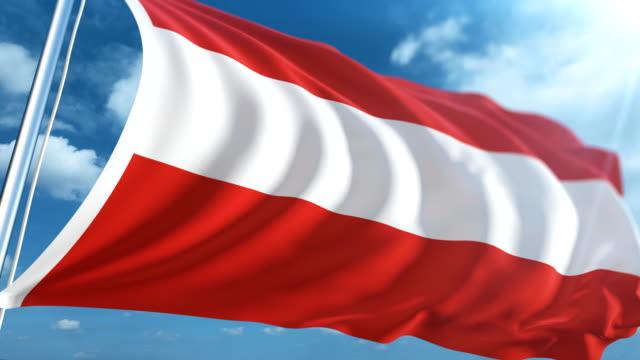 flagge der österreich | endlos wiederholbar - austria flag stock-videos und b-roll-filmmaterial
