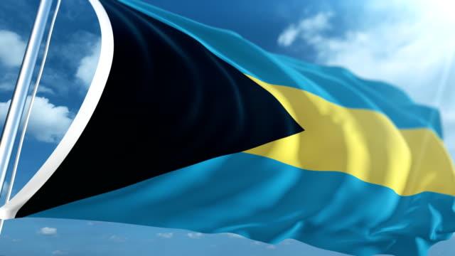 flag of the bahamas | loopable - bahamas stock videos & royalty-free footage