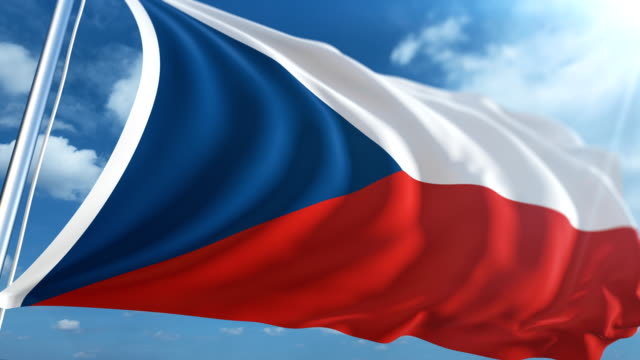 flag of the czech republic | loopable - traditionally czech stock videos & royalty-free footage