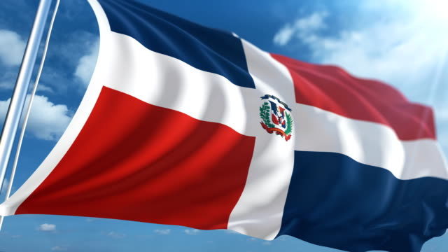 flag of the dominican republic | loopable - dominican revolutionary party stock videos & royalty-free footage
