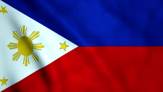 flag of the philippines - philippines flag stock videos & royalty-free footage