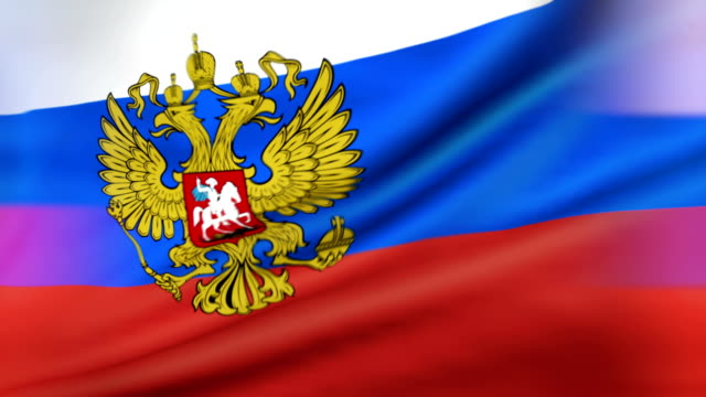 flag of the president of russia loopable - russian culture stock videos & royalty-free footage
