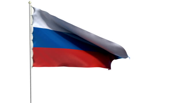 flag of the russian federation - former ussr flag stock videos & royalty-free footage