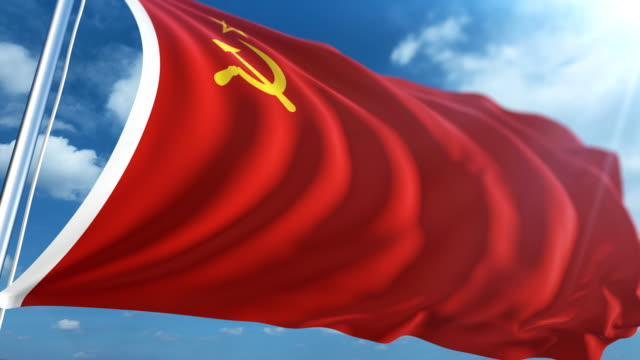 flag of the soviet union | loopable - intricacy stock videos & royalty-free footage