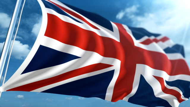 flag of the united kingdom | loopable - uk stock videos & royalty-free footage