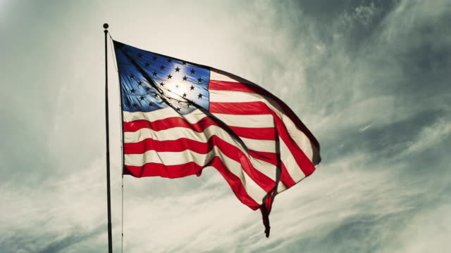 flag of the united states of america - stars and stripes stock videos & royalty-free footage