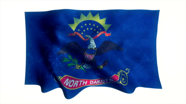 flag of the us state of north dakota - bismarck north dakota stock videos & royalty-free footage
