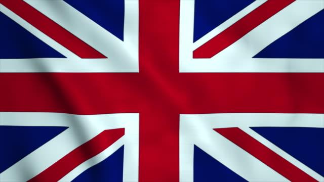 flag of united kingdom - union jack stock videos & royalty-free footage