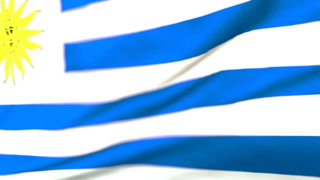 flag of uruguay loopable bandera de uruguay - uruguaian flag stock videos & royalty-free footage