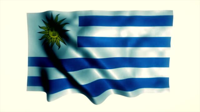 flag of uruguay, uruguaian flag - uruguaian flag stock videos & royalty-free footage